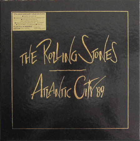 Rolling Stones Atlantic City 89 5th Anniversary Gold