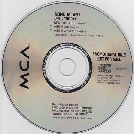 NONCHALANT - Until The Day - CD single