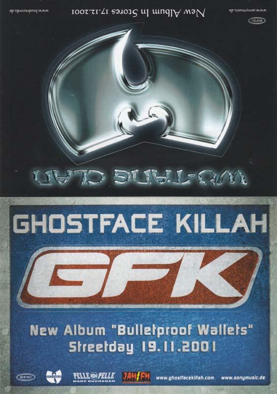 WU-TANG CLAN / GHOSTFACE KILLAH - Postcard Set - Autres