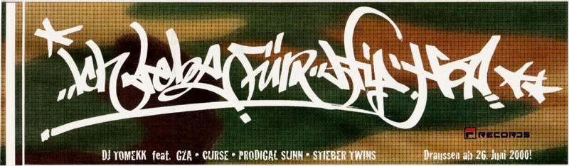DJ TOMEKK FEAT. GZA - Ich Lebe Für Hip Hop - Sticker - Autres