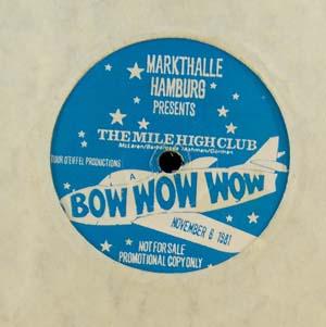 Bow Wow Wow Markthalle Hamburg Presents The Mile High Club
