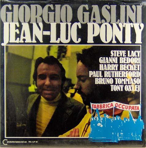 PONTY, JEAN-LUC / GIORGIO GASLINI - Fabbrica Occupata - LP
